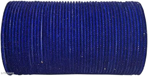 NEW KIRANON COLLECTION BANGLE B.BLUE (SET OF 48 PCS)