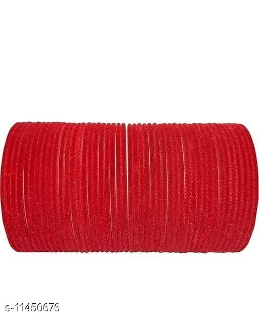 NEW KIRANON COLLECTION BANGLE RED (SET OF 48 PCS)