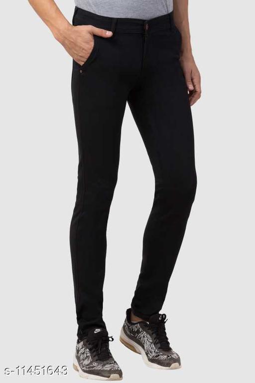 Fashionable Skinny Black Jeans for Men