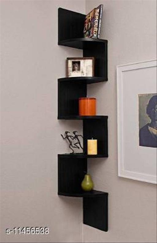 Wooden LAtest Zig Zag Wall Shelves