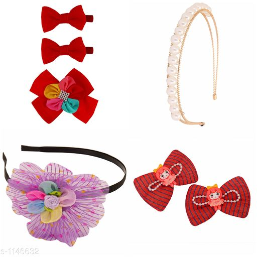Tools & Accessories Standard Choice Hair Accessories Combo  *Product Name* Combo Pack Of Hair Accessories For Kids Girl's  *Product Type* Hair Accessories  *Material* Metal, Plastic & Net  *Description* It Has 1 Pack Of Combo Hair Accessories Products  *Sizes Available* Free Size *    Catalog Name:  Premium Choice Hair Accessories Combo Vol 2 CatalogID_142466 Code: 992-1146632-