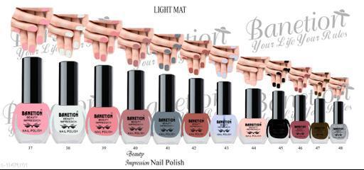 Banetion New Beautiful HD color Nail paint set