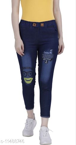 Rishu Design dark blue solid denim joggers
