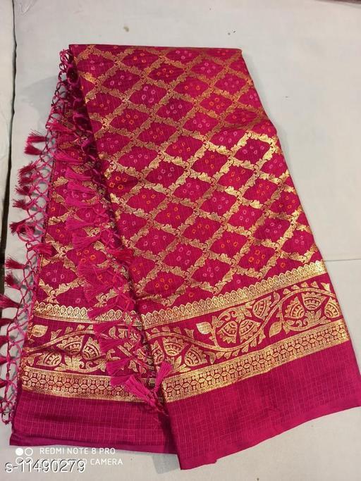 Shree KARNI Foil Printed Poly Cotton soft fabric SAREE with beautiful Traditional design