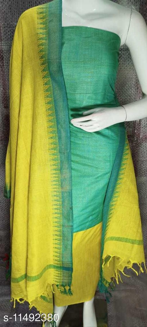 Cotton Khadi Dress Material