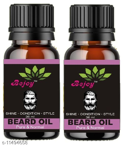 Herbal Products  Advanced Beard Growth Oil for Men - for Beard Growth - hair oil Hair Oil  (60 ml) Product Name:  Advanced Beard Growth Oil for Men - for Beard Growth - hair oil Hair Oil  (60 ml) Multipack: 2 Country of Origin: India Sizes Available: Free Size    Catalog Name:  Proffesional Relief Herbal Oil CatalogID_2161420 C50-SC1297 Code: 913-11494658-