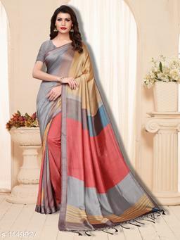 Attractive  Pashmina Silk Printed Saree