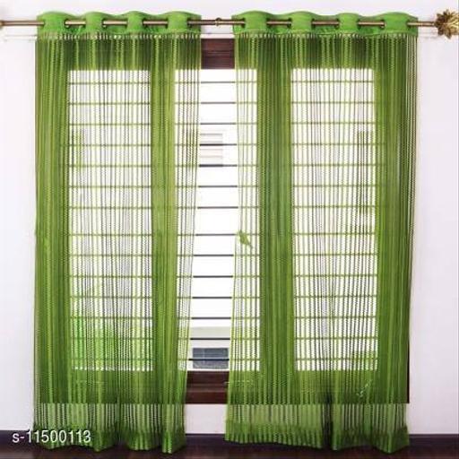 Khalsa Furnishing 214 cm (7 ft) Tissue Door Curtain (Pack Of 2)
