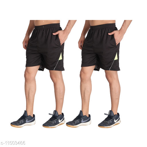 MRD Running & Yoga Mens Shorts (Pack of 2) Best fit from 28 to 34 Inches Waist