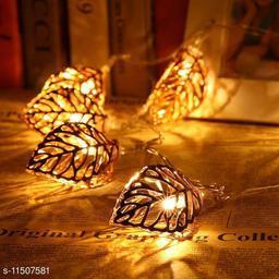 greenfinch Golden Metal Leaf String 16 Led Decorative Lights(Warm White 3-Meters) DESIGHN ASSORTED
