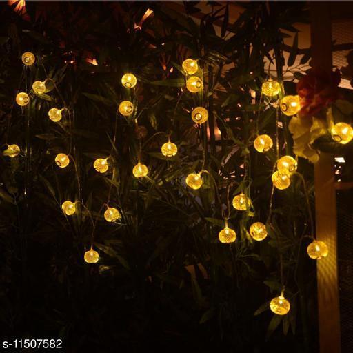 GREENFINCH 6 Led Golden Metal Lantern Copper String Fairy Light for Home,Office, Diwali, Eid & Christmas Decoration - Warm White DESIGHN ASSORTED