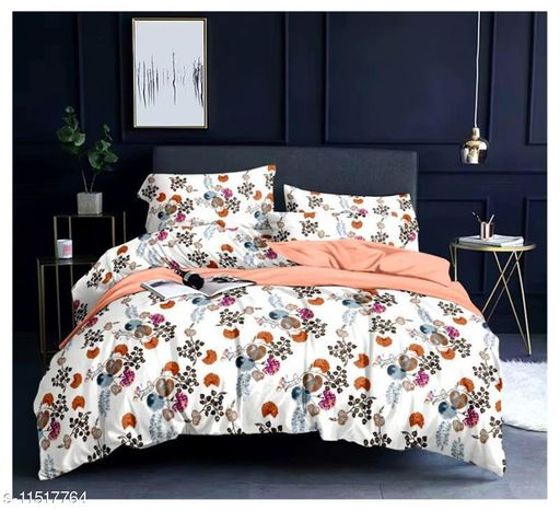 Traditional New Stylish Jaipuri Printed Cotton Blend Bedsheet (90 * 100 ) with Pillow Cover ( 27 * 17 )