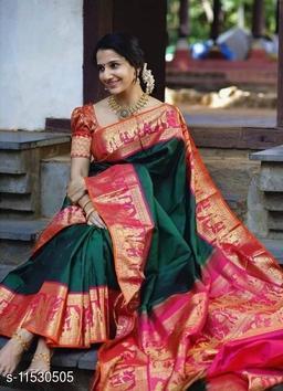 Two Tone Silk Saree