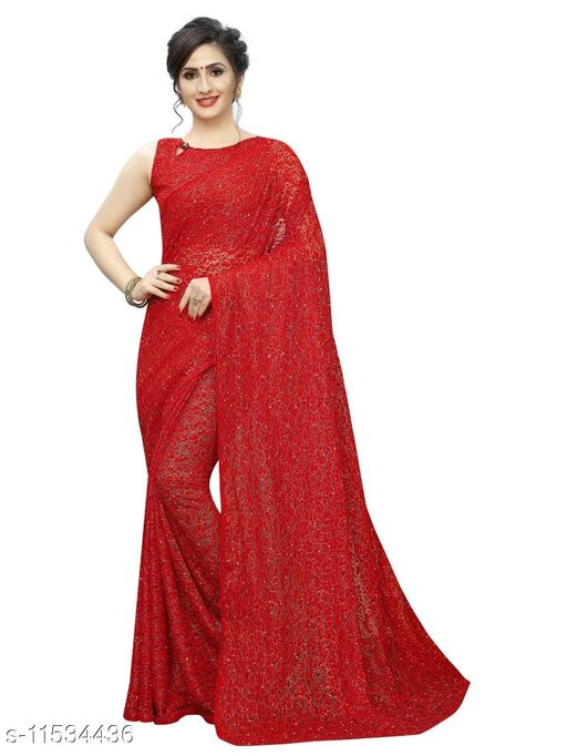 New Stylish Collection of Net Saree For Festive Look