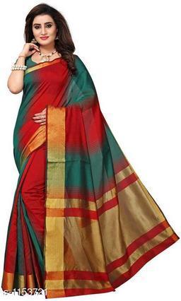 Aradhya Attractive  Poly Cotton Saree