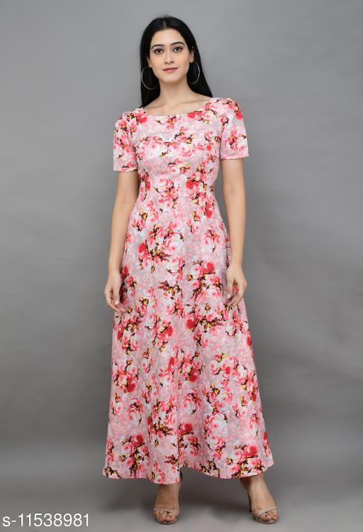 Womens Casual Printed Long Dress