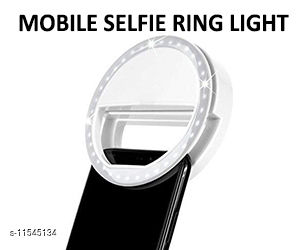 ELFIE RING LIGHT: 3 different levels of brightness, Provide supplemental or side lighting for creative photography and videography, Continuous LED light, no heat, and with a bright light in the low light scene