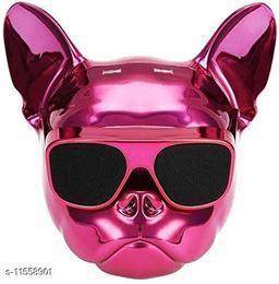 Bull Dog Wireless Bluetooth Super Bass Speaker in Metallic Pink Color