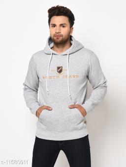 98 Degree North Grey Melange Sustainable Sweatshirt
