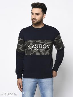 98 Degree North Navy Blue Sustainable Sweatshirt