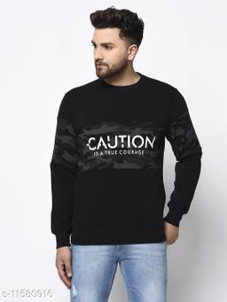 98 Degree North Black Sustainable Sweatshirt