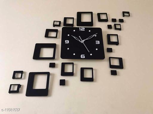 Stylish Square Designer Acrylic Wall Clock