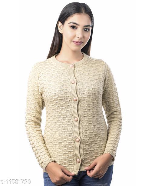Varenyam woollen round neck Women's cardigan