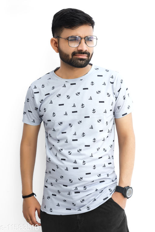 i-view Stylish Fully Digital Printed Round neck T-shirt for Men