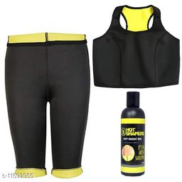 Play Run Slimming Pant  Bra With Free Hot Shaper Gel   Size:- 32-XL