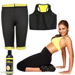 Play Run Workout Slimming Hot Waist-Trimmer Bra  Pant With Gel Women Thermal Slimming Combo  Size:- 32-XL