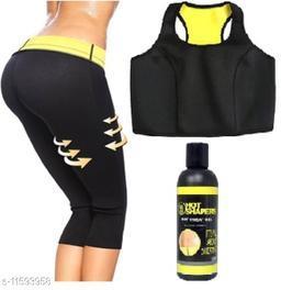 Play Run Woman Shapewears Bra Hot Shapers Slim Pant With Gel   Size:- 32-XL