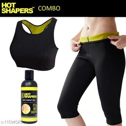 Play Run Hot Shapers Bra/ Knee Pant Sports Wear Shaper With Hot Shaper Gel   Size:- 32-XL