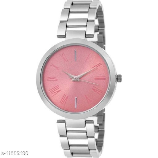 HRV Pink dial stainless steel professional watch for women Watch - For Girls