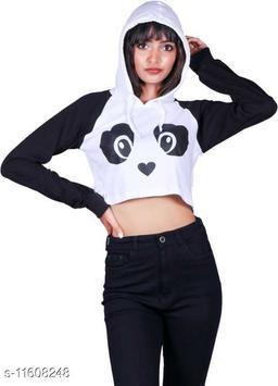 Cropped Panda Hoodie for Women