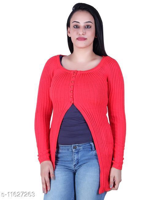 Ogarti woollen full sleeve round neck Women's  Shrug