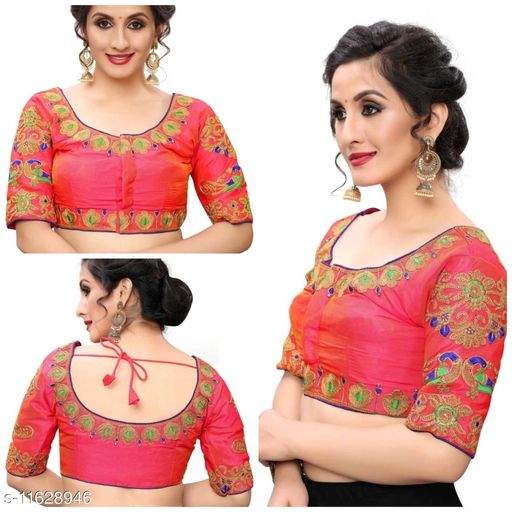 Designer Embroidered Readymade Blouse piece