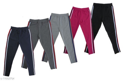 Comfort cotton jeggings for girls Pack of 5