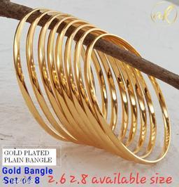 PLAIN GOLD PLATED BANGLE