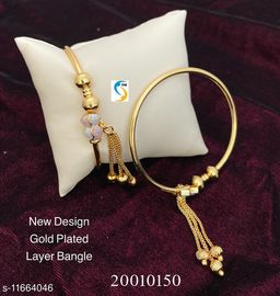 NEW DESIGN GOLD PLATED LOOK BEAUTIFUL LAYER BANGLE