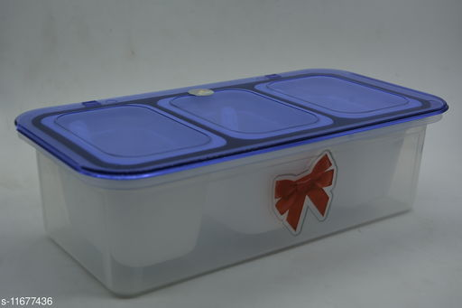Multi-Purpose Storage Container | Pickles, Dry Fruits,|Hassle Free with Lock