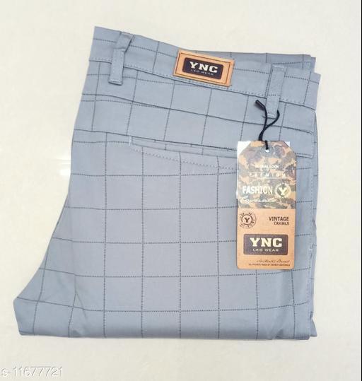Checkered Cotton Trouser