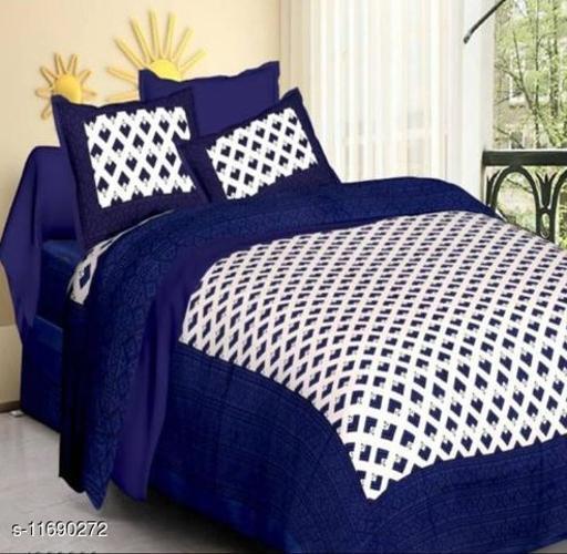 Attractive 100 x 90 Cotton Double Bedsheet
