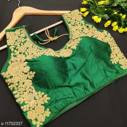fentom silk embroidery free size blouse