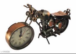 LakdiBazar Miniature Bike Desk Clock ShowPiece