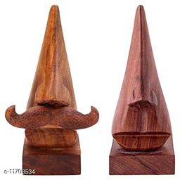 Wooden Handcarved Spectacles Holder - Pack of 2 (For Him and Her)