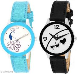 Miss Perfect New Stylist Attractive Peacock & heart Dial Print Anlong Women Analog Watch
