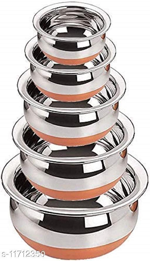Seebuy Stainless Steel Handi Set, 2.1, 1.6, 1.1, 0.8, 0.5 L, 5 Piece A10
