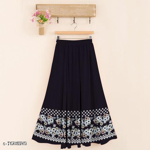 Trendy PolyRayon Women's Skirt