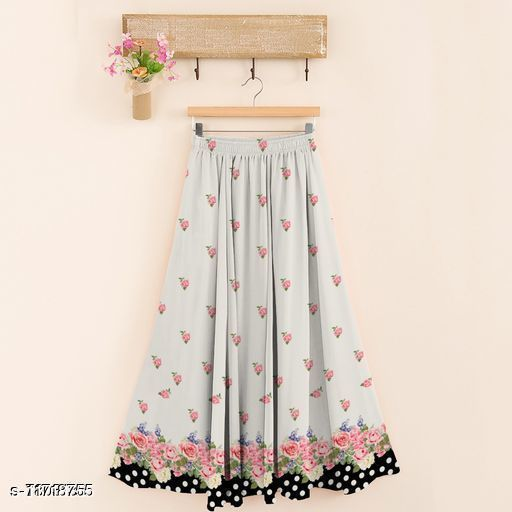 Designer Rayon Fabrics Digital Printed SkirtFabrics