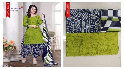 Pretty Cotton Salwar Suits & Dress Material